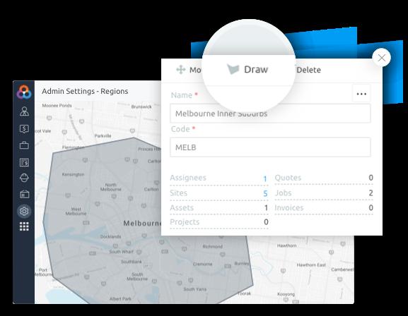 Job dispatching app trade regions
