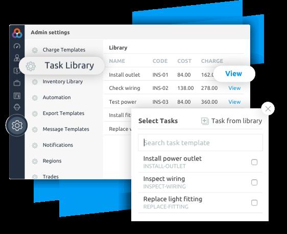 Tradie task managment software templates