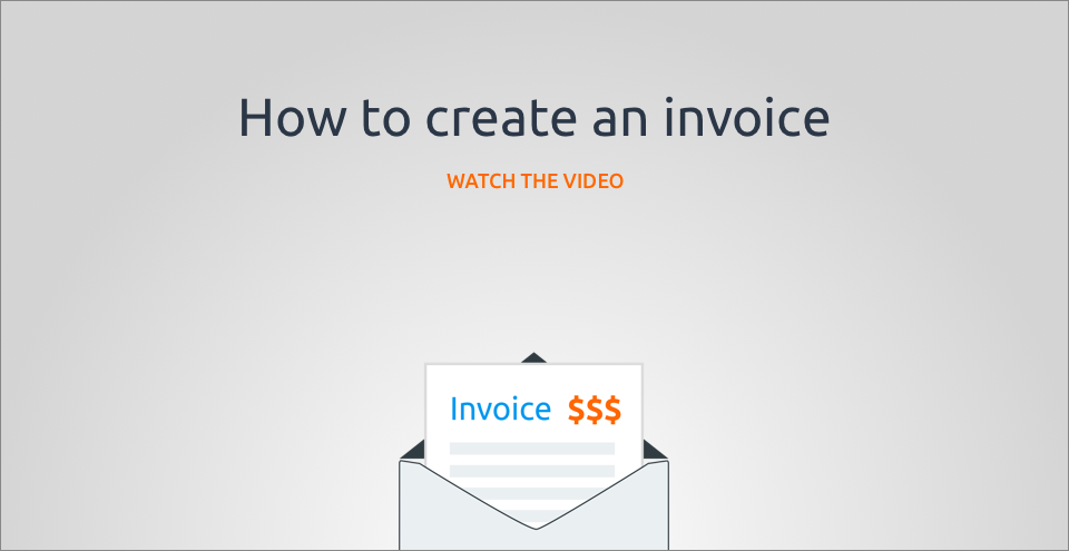 How to create an invoice