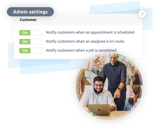 Customer communication automated messages