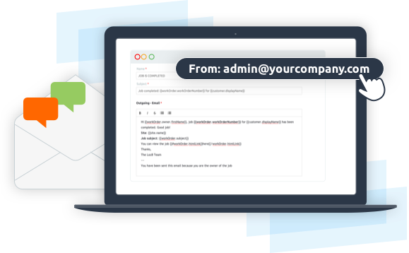 Personalise all outgoing emails