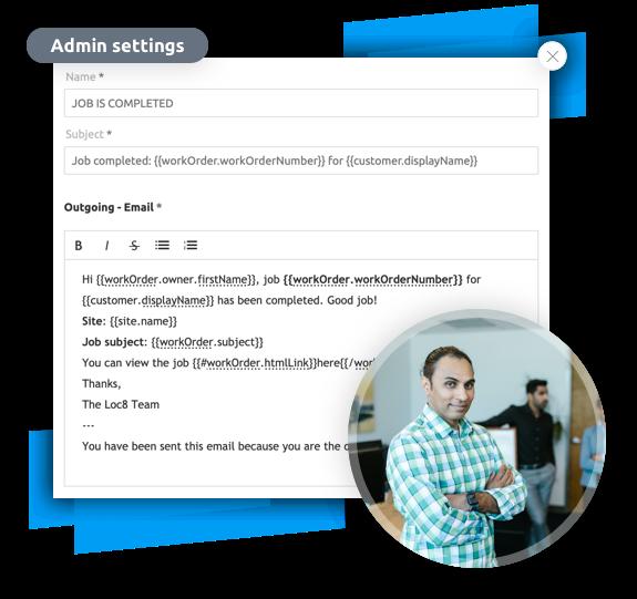 Customer communication message templates