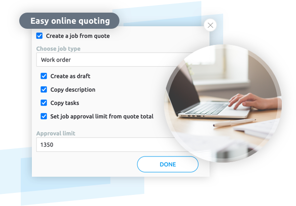 Quoting software eliminate paper based quotes